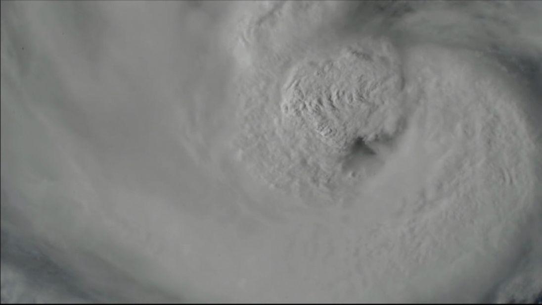 Hurricane Harvey filmed from the International Space Station