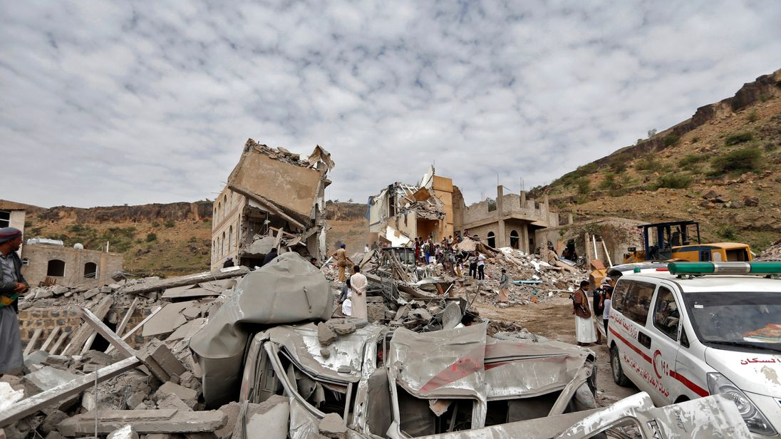 Airstrike on Faj Attan neighbourhood