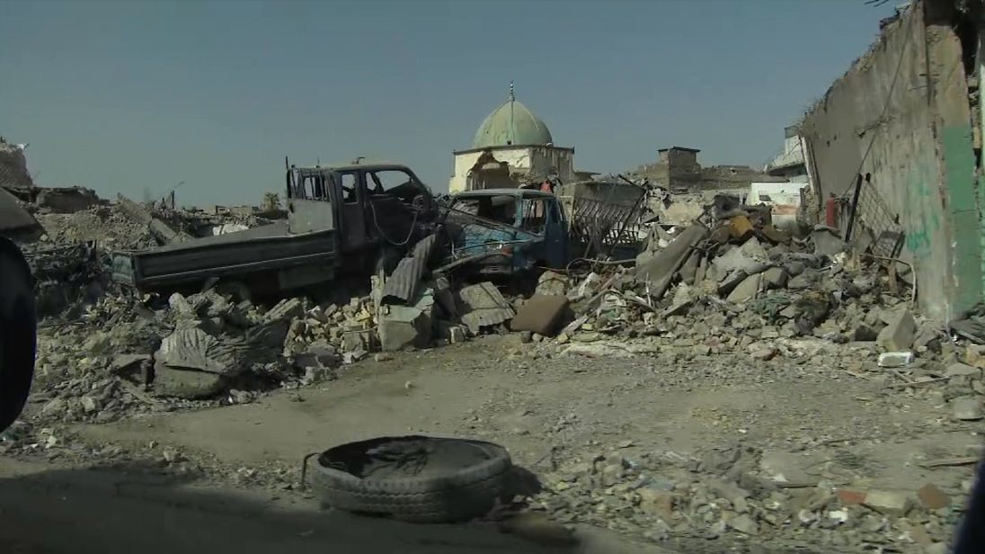 A view from inside Mosul's Old City
