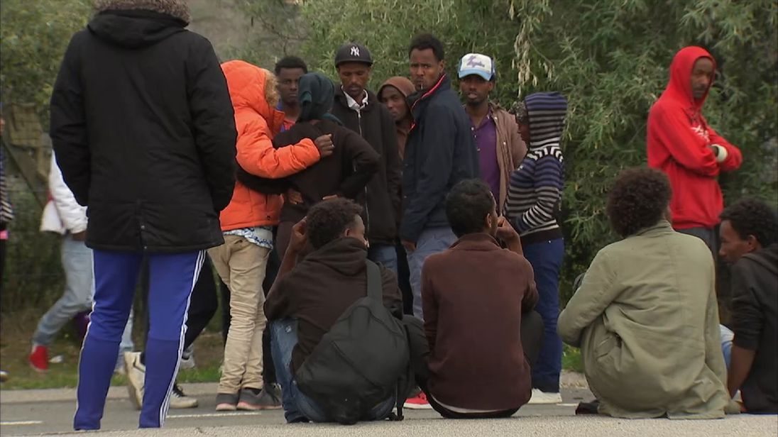 Calais still sees huge numbers of migrants attempting to reach the UK