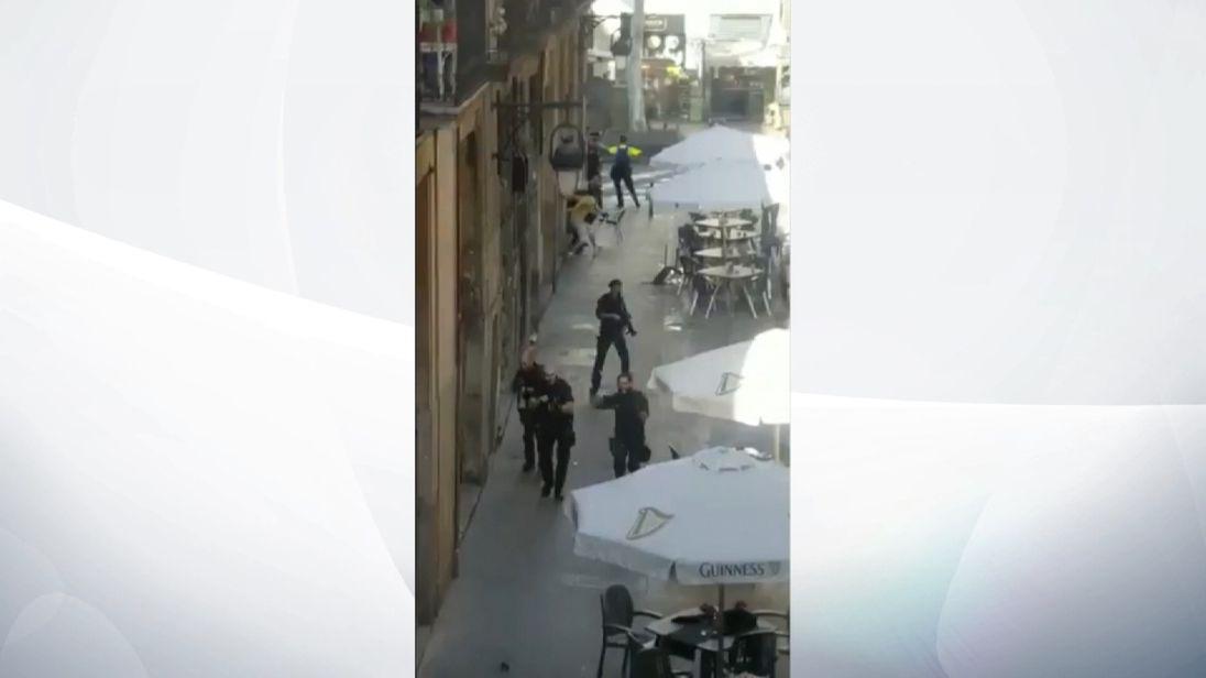 Police search streets of Barcelona following terrorist attack