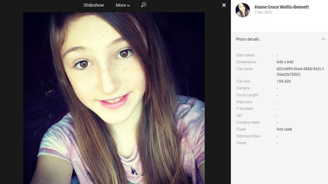 Keane Wallis-Bennett, who died after a wall fell on her at her school in Edinburgh