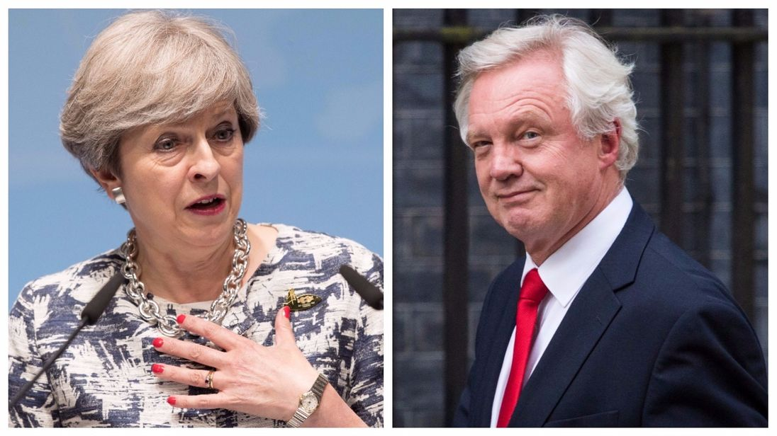 David Davis resignation letter and Theresa