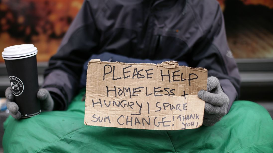 The scale of homelessness has 'increased significantly' over the past five years
