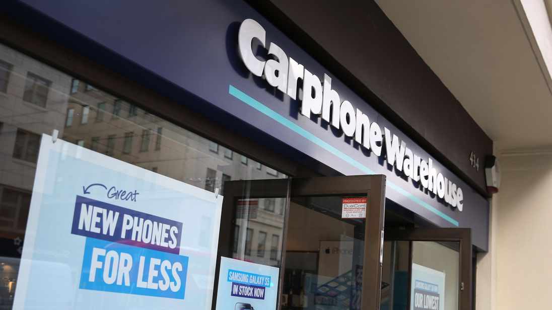 A branch of Carphone Warehouse on May 15, 2014 in London, England.