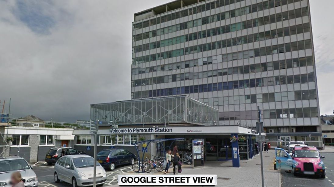 A man had been stabbed at Plymouth Railway Station