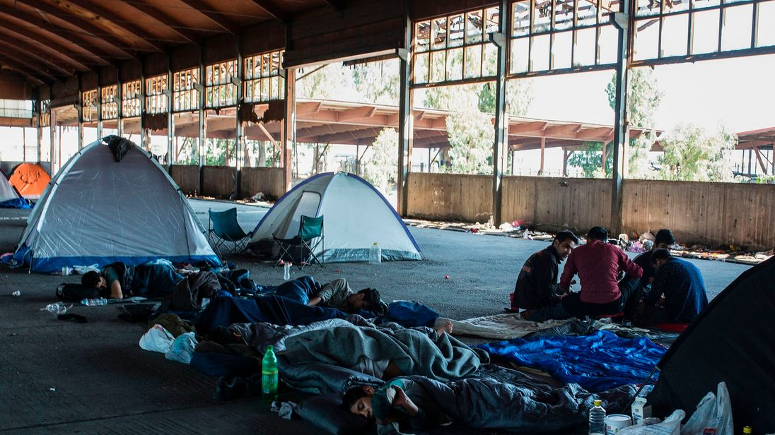 Overcrowding and homelessness remains a problems for refugees in Greece