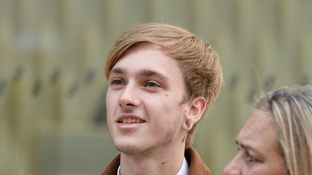Charlie Alliston, arriving for his trial at the Old Bailey