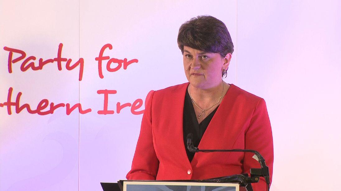 DUP leader Arlene Foster has warned of a return to direct rule