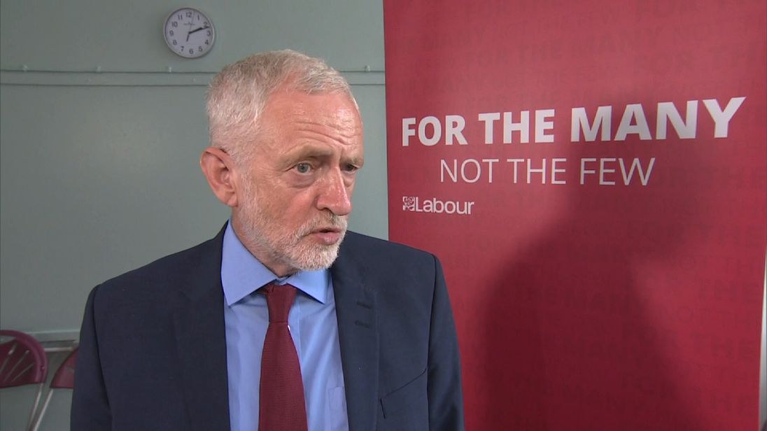 Jeremy Corbyn talking in interview.