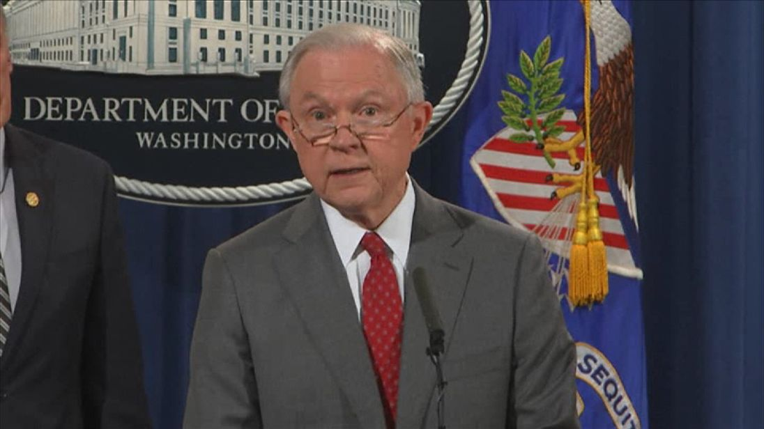 US attorney general Jeff Sessions issues strong warning to 'would-be leakers'