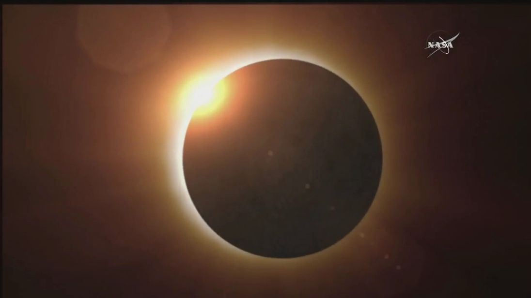 In a solar eclipse the Moon passes in front of the Sun