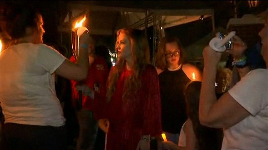 Priscilla Presley at vigil