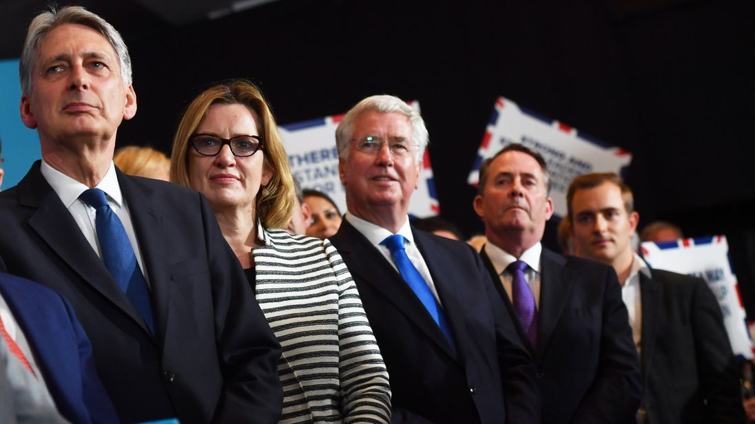 Tory heavy weights on the final day of the election campaign