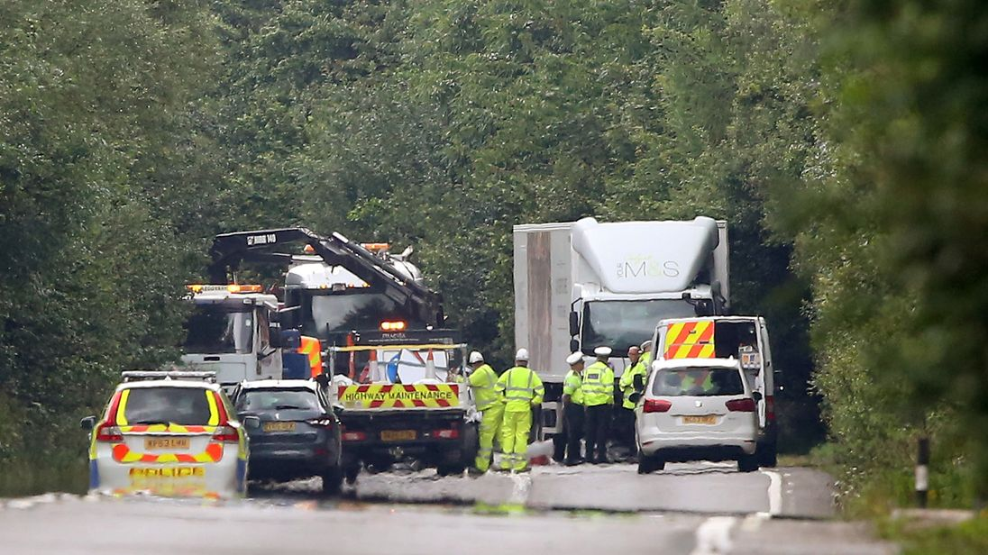 Emergency services at the scene of the crash. Pic: Apex