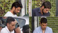 Suspects (clockwise) Mohammed Aalla, Salah el Karib, Driss Oukabir and Mohamed Houli Chemlal