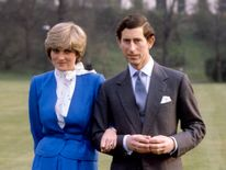 Feb 1981: Prince Charles and Lady Diana Spencer announce their engagement