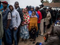 Some people started queuing early in the morning to make sure they were able to vote.