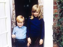 1968: Lady Diana Spencer  with her Brother Charles, Lord Alhorp (Earl Spencer)