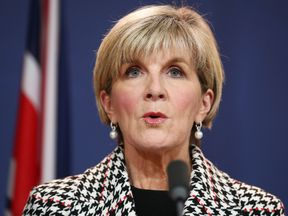 Australia's foreign minister Julie Bishop says she may not be able to trust members of the New Zealand parliament after a diplomatic spat