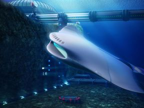 Young British scientists and engineers from UKNEST, a not-for-profit organisation which promotes science, engineering and technology for UK naval design, took part in the design challenge to design futuristic submarines. Pic: Royal Navy