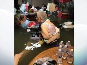 Elderly residents stranded at the La Vita Bella care home in Dickinson, Texas
