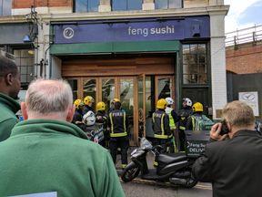 Firefighters in Borough Market. Pic: Paul Dawson/@poleydeepics