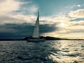 The Sea Dragon carries 13 crew as it circumnavigates the UK.