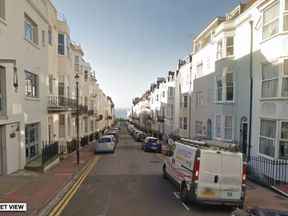 The incident happened on Devonshire Place in Kemptown.