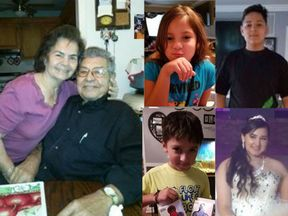 Six members of the Salvidar family are presumed drowned in the floods in Houston. Pic: Facebook