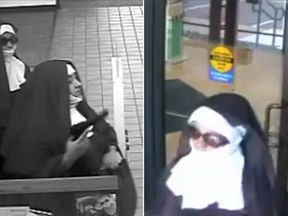 Two women dressed as nuns who attempted to rob a bank in Tannersville, Pennsylvania