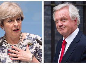 Split of Theresa May and David Davis