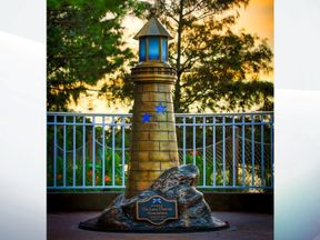 The lighthouse statue has been unrelieved at Walt Disney World in Florida. Pic: Walt Disney World