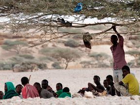 Immigrants from Ethiopia wait for a boat to cross into Yemen outside the town of Obock February 22, 2015. File pic