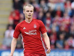 Striker Gary Mackay-Steven in action for Aberdeen