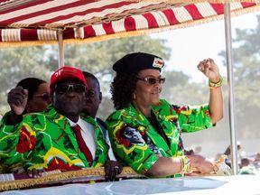 Zimbabwe's President Robert Mugabe with his wife Grace