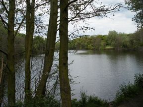 Emergency services continue to search Horbury Lagoon. Pic: SMJ/Geograph