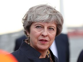 Prime Minister Theresa May during a visit to Teesside
