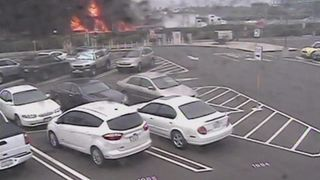 The crash happened close to John Wayne Airport