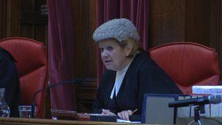 Lady Justice Hallett delivers a verdict