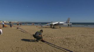 Two killed on beach in Portugal as light aircraft makes emergency landing