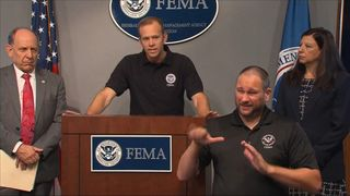 Federal Emergency Management Agency gives an update on the flood situation in Texas