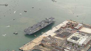 HMS Queen Elizabeth will be based in Portsmouth during its 50-year lifespan