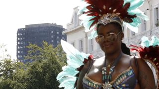 Festivities were held in the shadow of Grenfell Tower