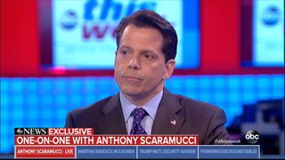 Anthony Scaramucci has given his first interview since he was fired to ABC News