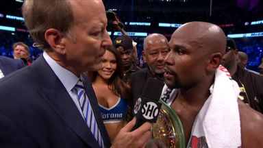Mayweather: I was the better man