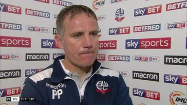 Parkinson disappointed with defeat