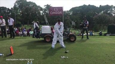 McIlroy's astronaut golf!