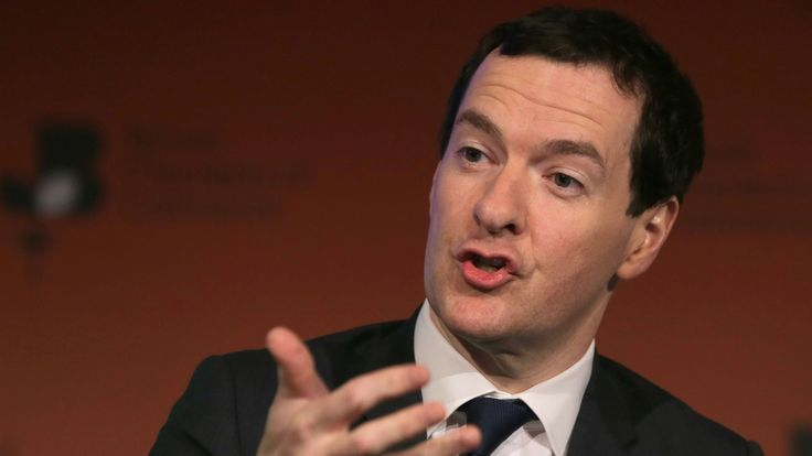 Former British Chancellor of the Exchequer George Osborne speaks at the British Chambers of Commerce conference in London on February 28, 2017