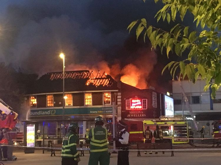 Chingford Fire Poundland Store Goes Up In Flames